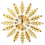 Đồng hồ treo tường lá kim tiền mang đến may mắn tài lộc cho gia chủ BS6689-75