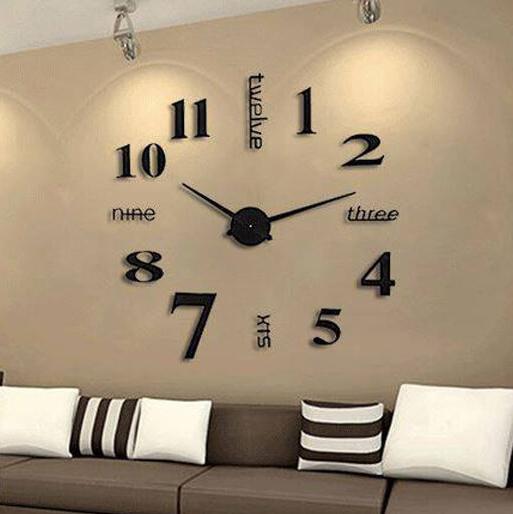 Đồng hồ dán tường phong cách Châu Âu hiện đại GZ-202BL