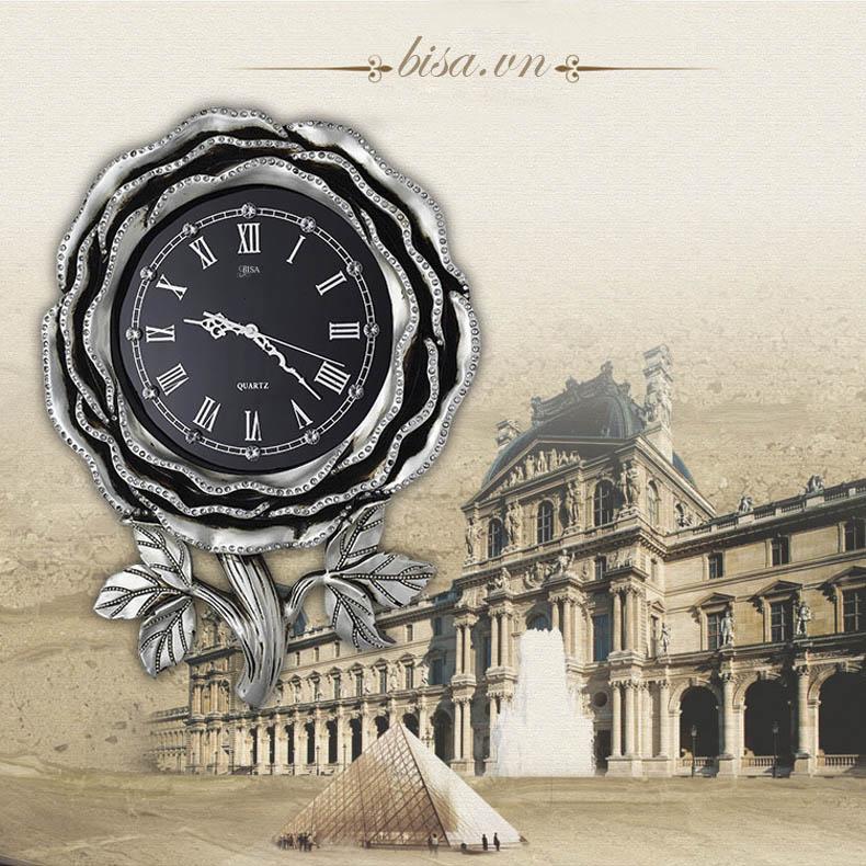 Đồng hồ hình bông hồng vô cùng đẹp và ấn tượng. Cho không gian đặc biệt sang trọng BS6843
