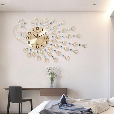 Đồng hồ treo tường công vàng đậm chất hoàng gia, thương hiệu bisa độ bền trên 20 năm BS1901BW-100