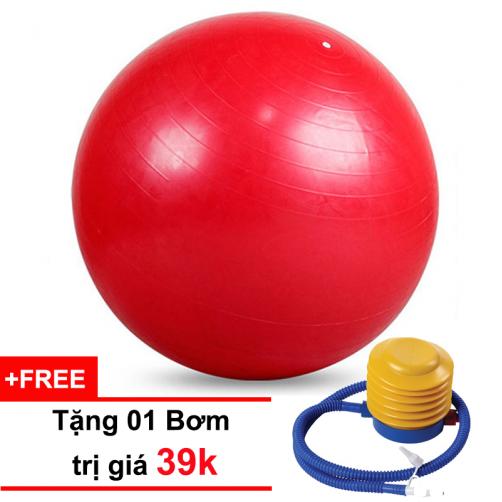 Bóng Tập Yoga Trơn 65CM Đỏ