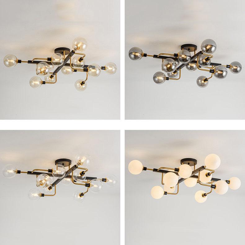 Đèn trần phòng khách phong cách sang trọng đầy ấn tượng MX471 loại 12 bóng