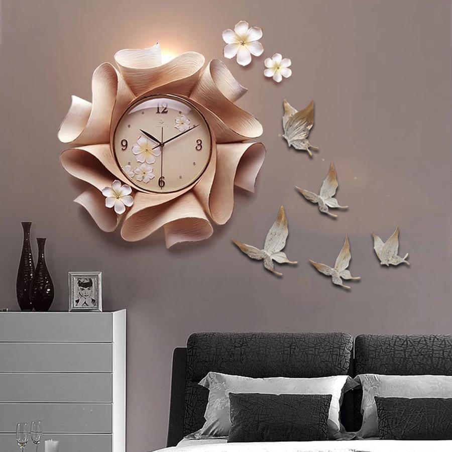Đồng hồ thiết kế hình hoa nghệ thuật cho không gian thêm ấn tượng ZB0022A_L5001