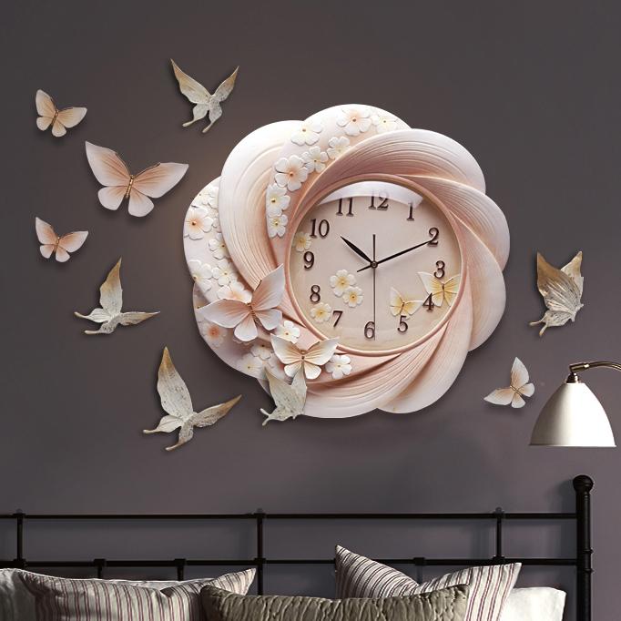 Đồng hồ thiết kế hoa nghệ thuật cho không gian thêm ấn tượng ZB0027B_L5001
