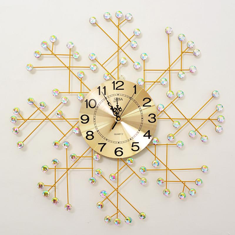 Đồng hồ treo tường pha lê thiết kế hiện đại ấn tượng B8118