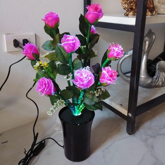 Bình hoa đèn LED độc đáo, tô điểm hoàn hảo cho không gian thêm ấn tượng D002_PK
