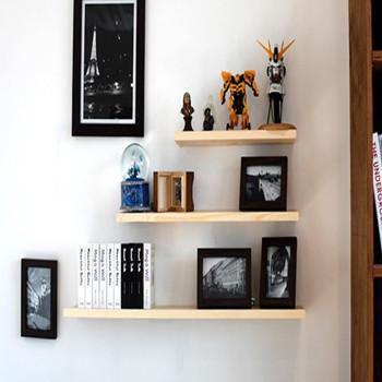 Kệ gỗ treo tường hiện đại giúp tiết kiệm không gian ngôi nhà KE468_CR