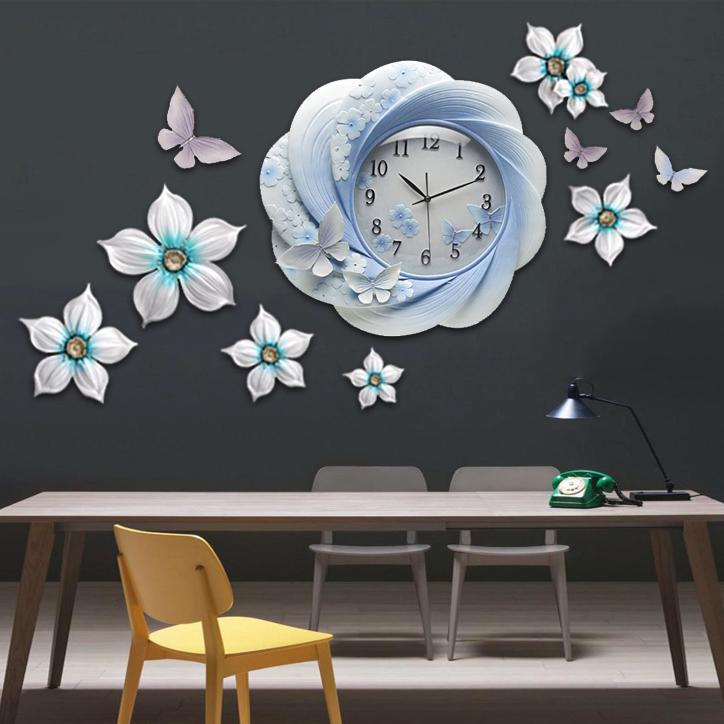 Đồng hồ thiết kế hoa nghệ thuật cho không gian thêm ấn tượng ZB0027B_Q9972