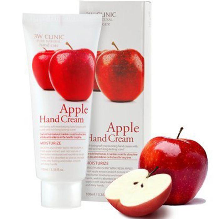 Kem dưỡng da tay chiết xuất Táo Hàn Quốc cao cấp 3W Clinic Apple Hand Cream (100ml)