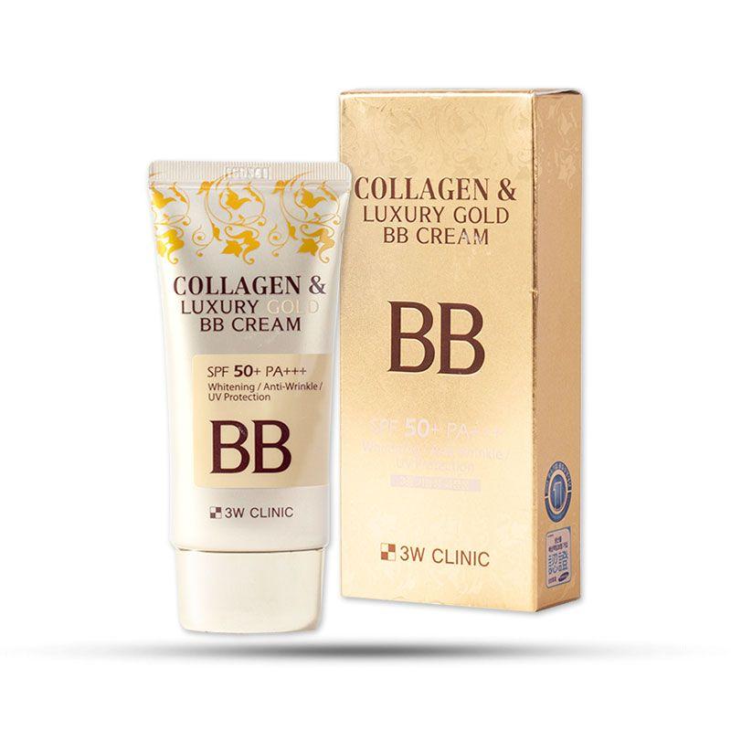 Kem nền trang điểm 3 trong 1 3W Clinic Collagen & Luxury Gold BB Cream