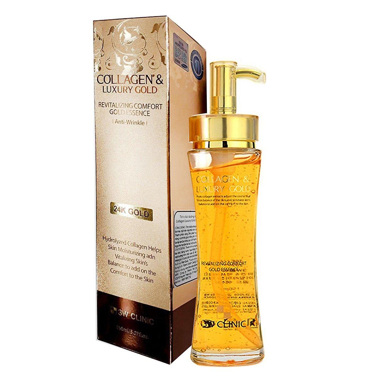 Serum Tinh Chất Vàng Dưỡng Trắng Tái Tạo Da Collagen & Luxury Gold 3W Clinic (150ml)