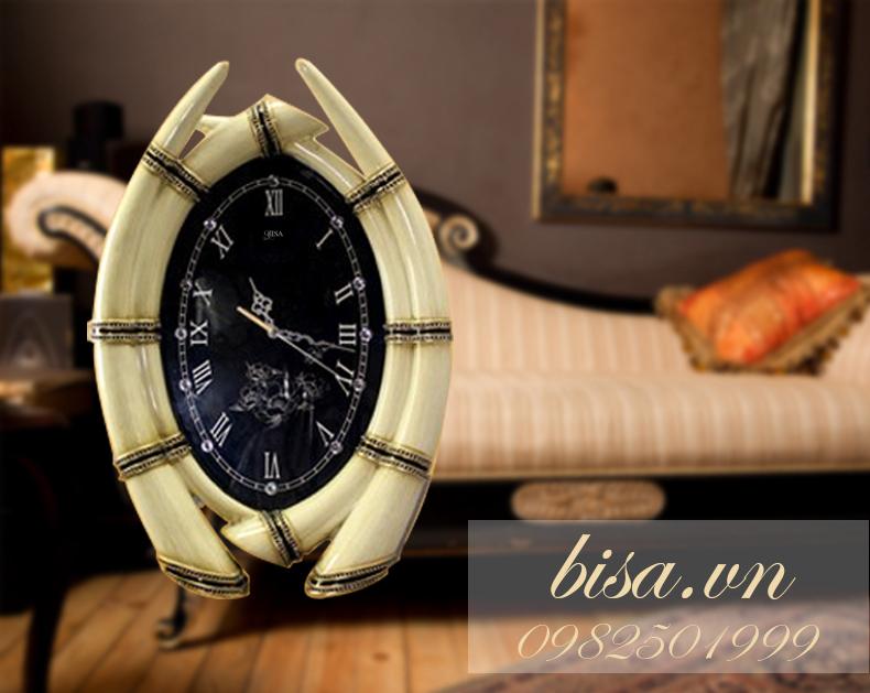 Đồng hồ treo tường hình ngà voi vô cùng ấn tượng, tạo nên sự sang trọng và đặc biệt nhất BS6853