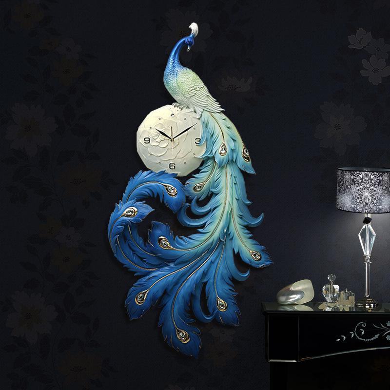 Đồng hồ chim công thiết kế nghệ thuật cho không gian thêm ấn tượng ZB0032