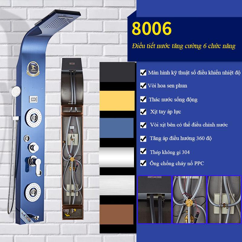 Vòi sen tắm hiển thị điều khiển kỹ thuật số vô cùng tiện nghi cho phòng tắm hiện đại 8006