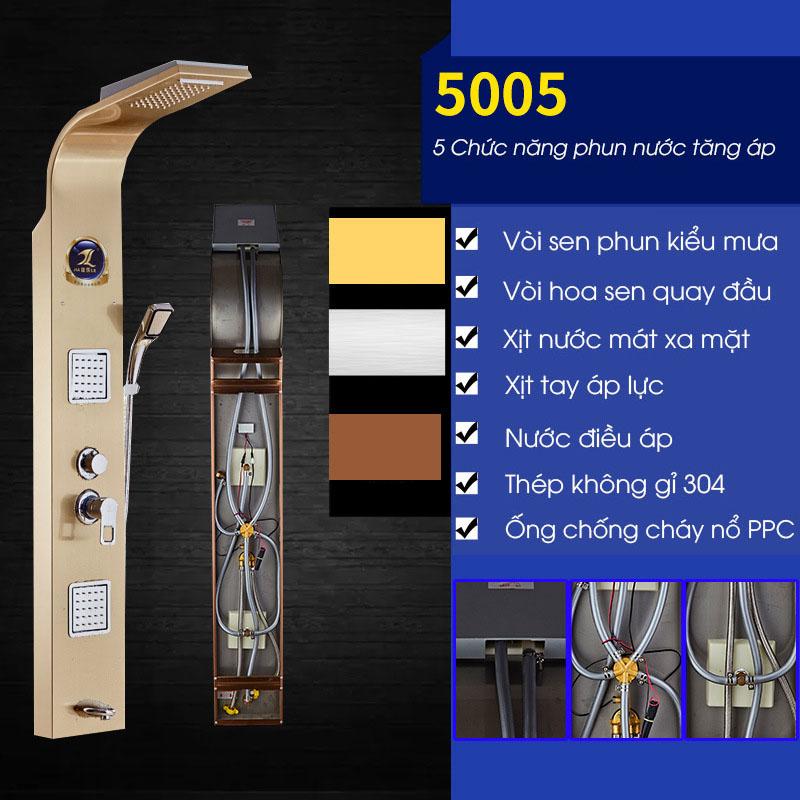 Vòi sen tắm điều khiển đa chức năng vô cùng tiện nghi cho phòng tắm hiện đại 5005