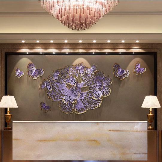Hoa bướm 3D trang trí tuyệt đẹp cho không gian đầy ấn tương FAN-2122 khổ 2m2