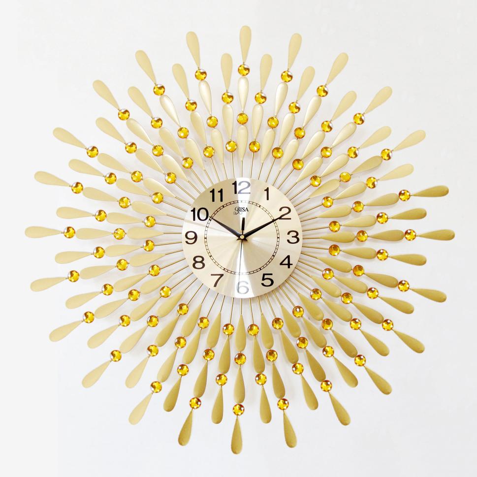 Đồng hồ treo tường hình chiếc lá và giọt sương  sẽ là điểm nhấn đặc biệt cho không gian nhà bạn BS8178C-90