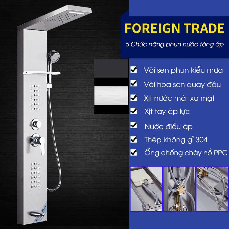 Vòi sen tắm điều khiển đa chức năng vô cùng tiện nghi cho phòng tắm hiện đại FT19