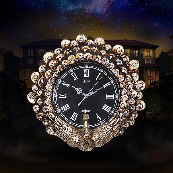 Đồng hồ treo tường phong cách Châu Âu sang trọng có một không hai BS1050_GO