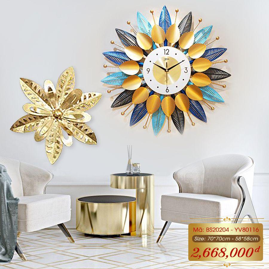 Set đồng hồ và decor trang trí 3D  tuyệt đẹp cho không gian thêm sống động đầy ấn tượng BS20204 - YV80116
