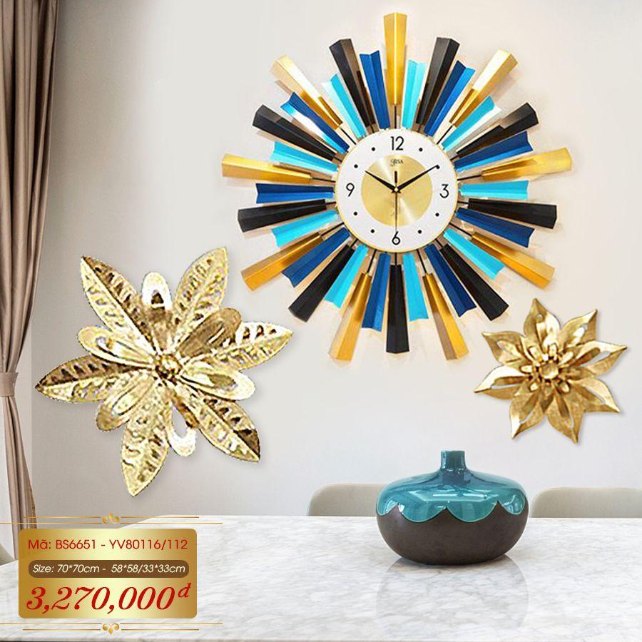 Set đồng hồ và decor trang trí 3D  tuyệt đẹp cho không gian thêm sống động đầy ấn tượng BS6651 - YV80116-112