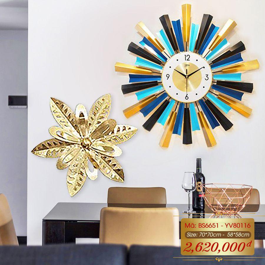 Set đồng hồ và decor trang trí 3D  tuyệt đẹp cho không gian thêm sống động đầy ấn tượng BS6651 - YV80116