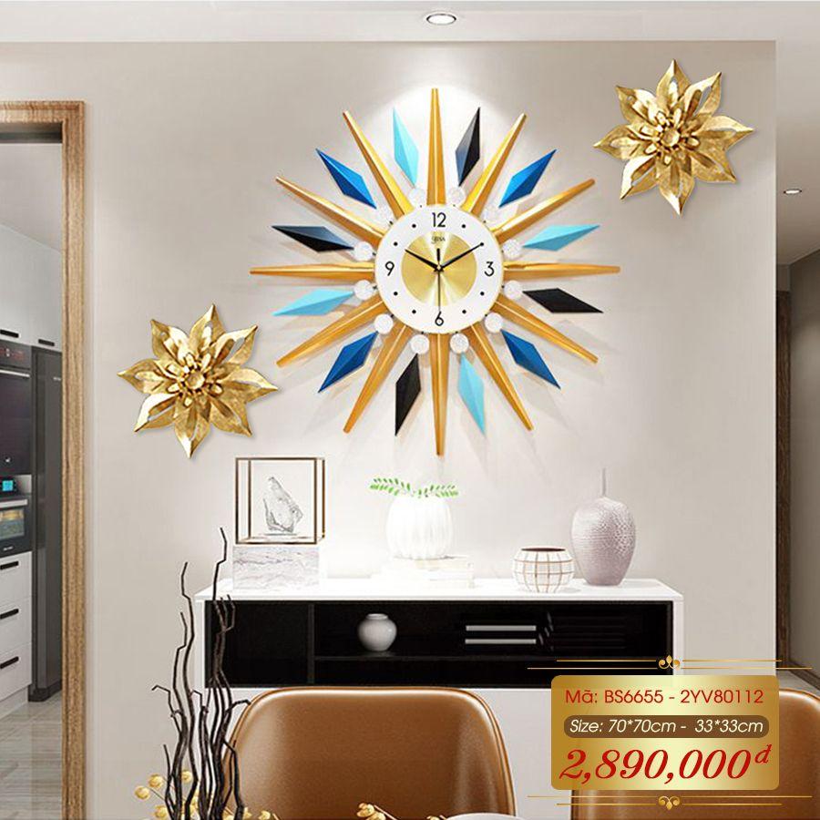 Set đồng hồ và decor trang trí 3D  tuyệt đẹp cho không gian thêm sống động đầy ấn tượng BS6655 - 2YV80112