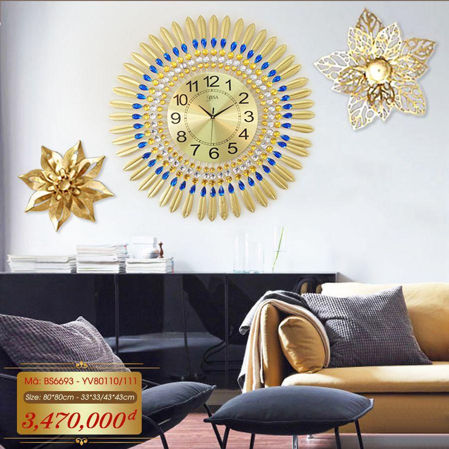 Set đồng hồ và decor trang trí 3D  tuyệt đẹp cho không gian thêm sống động đầy ấn tượng BS6693 - YV80110/111