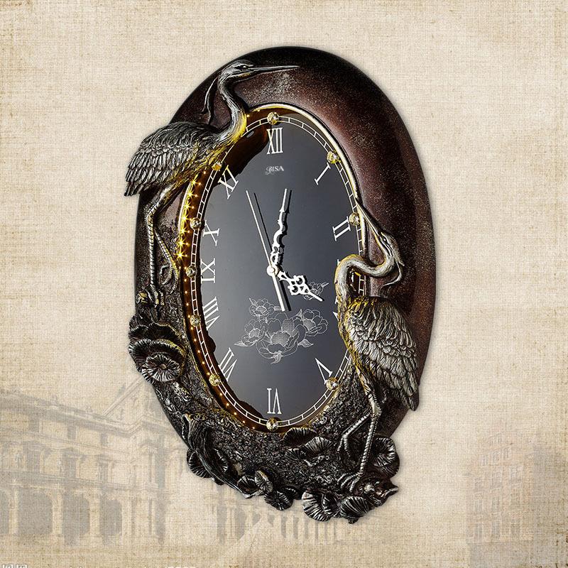 Đồng hồ treo tường chim hạc nhất phẩm điểu ý nghĩa may mắn giàu sang cho gia chủ BS6912