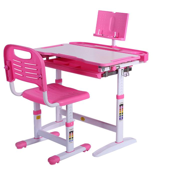Bàn học trẻ em thiết kế khoa học giúp tập trung việc học tốt hơn A01 mẫu cơ bản màu hồng