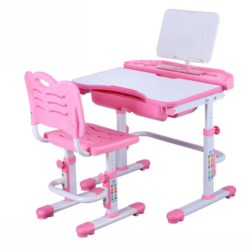 Bàn học trẻ em thiết kế khoa học giúp tập trung việc học tốt hơn KPLA7 mẫu cơ bản màu hồng