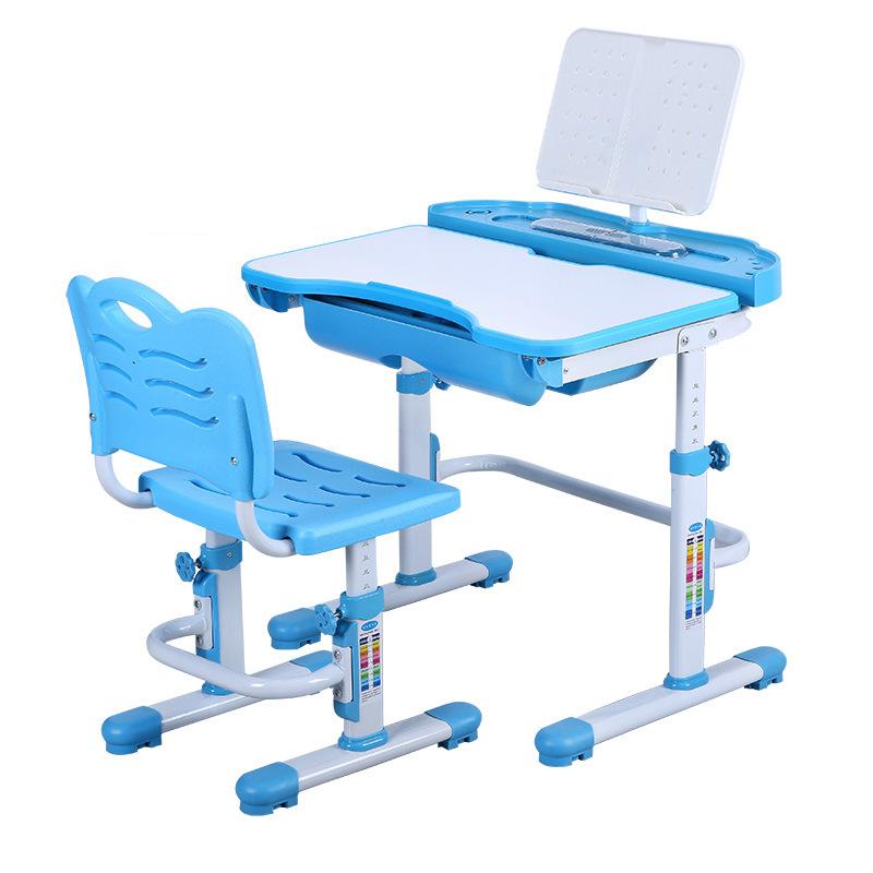 Bàn học trẻ em thiết kế khoa học giúp tập trung việc học tốt hơn KPLA7 mẫu cơ bản màu xanh