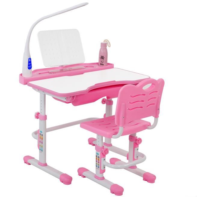 Bàn học trẻ em thiết kế khoa học giúp tập trung việc học tốt hơn tích hợp đèn LED LCD KPL-C8 màu hồng