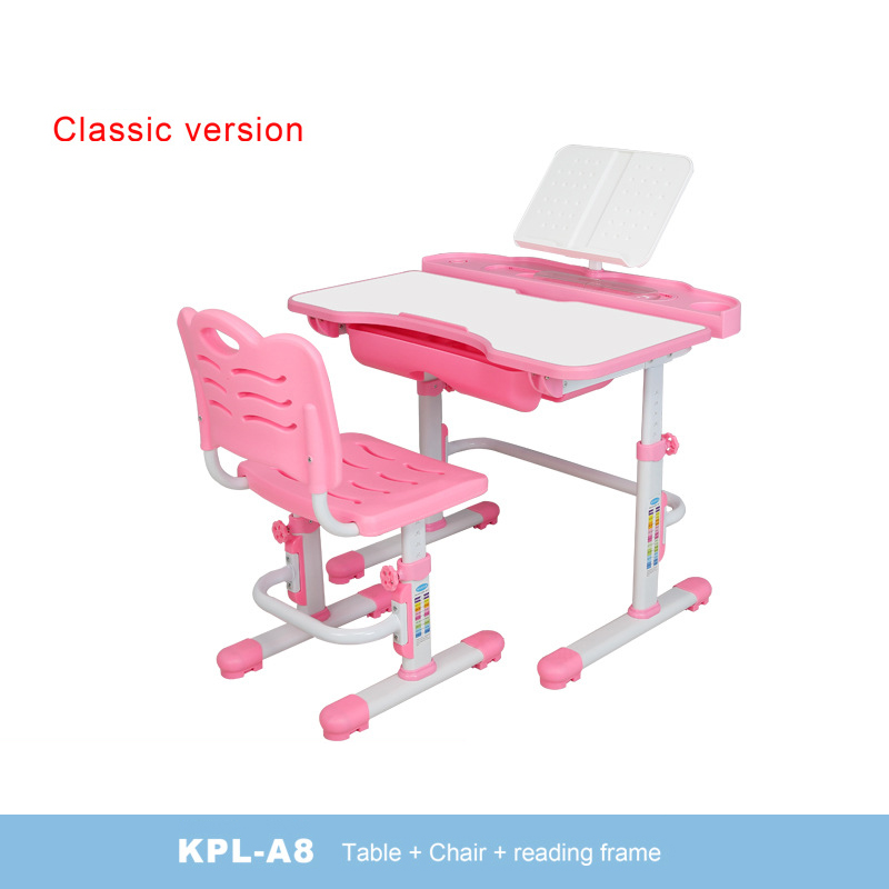 Bàn học trẻ em thiết kế khoa học giúp tập trung việc học tốt hơn KPL-A8 mẫu cơ bản màu hồng