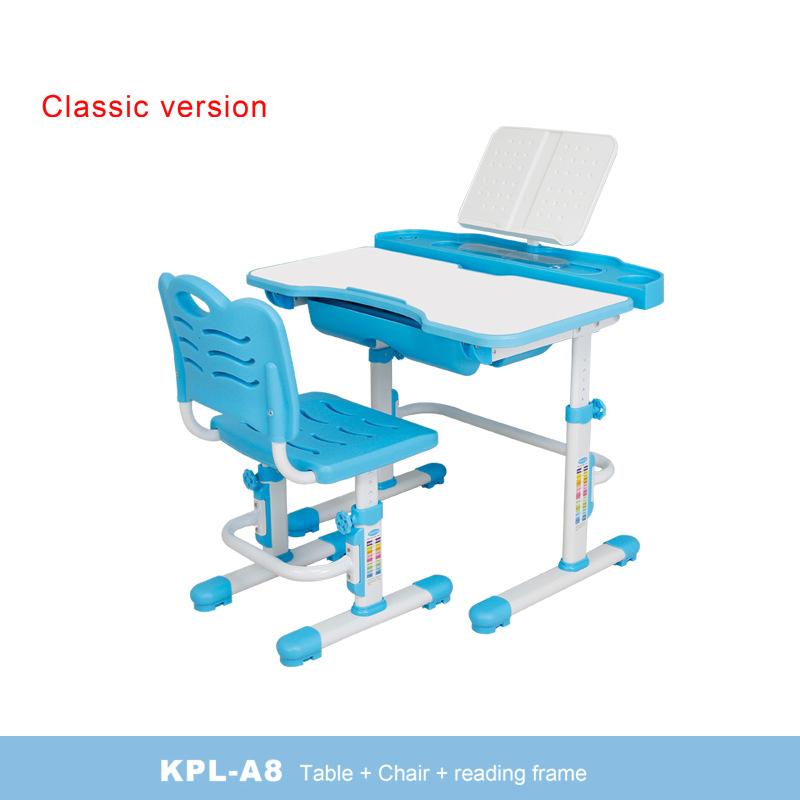 Bàn học trẻ em thiết kế khoa học giúp tập trung việc học tốt hơn KPL-A8 mẫu cơ bản màu xanh
