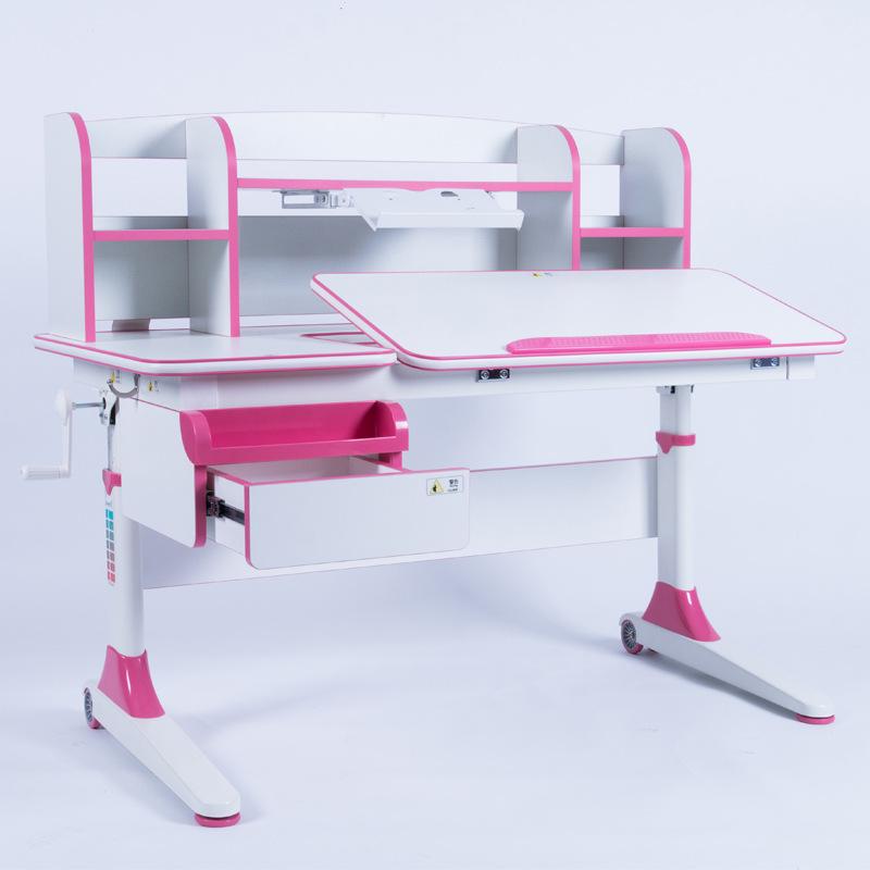 Bàn học trẻ em thiết kế khoa học giúp tập trung việc học tốt hơn Xavier E7 màu hồng