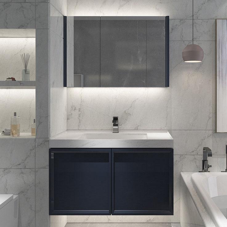 Bộ tủ gương và tủ lavabol chất lượng cao cho không gian hiện đại đẳng cấp YF1116 size 90cm