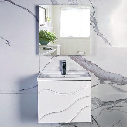 Bộ tủ gương và tủ lavabol phong cách Bắc Âu cho không gian hiện đại đẳng cấp YF1104 size 70cm