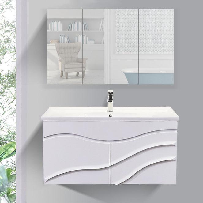 Bộ tủ gương và tủ lavabol phong cách Bắc Âu cho không gian hiện đại đẳng cấp YF1104 size 100cm