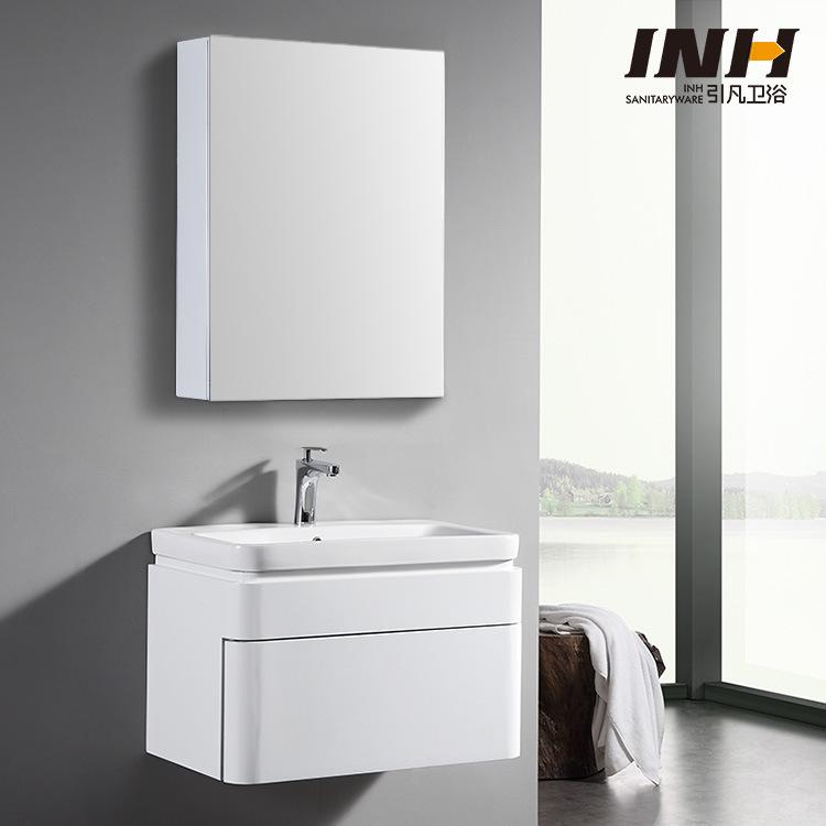 Bộ tủ gương và tủ lavabol phong cách Bắc Âu cho không gian hiện đại đẳng cấp YF1106 size 70cm gương chữ nhật