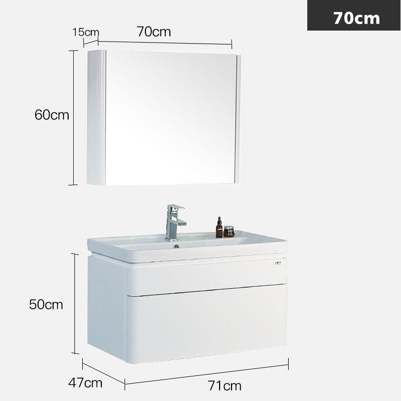 Bộ tủ gương và tủ lavabol phong cách Bắc Âu cho không gian hiện đại đẳng cấp YF1106 size 70cm gương vuông