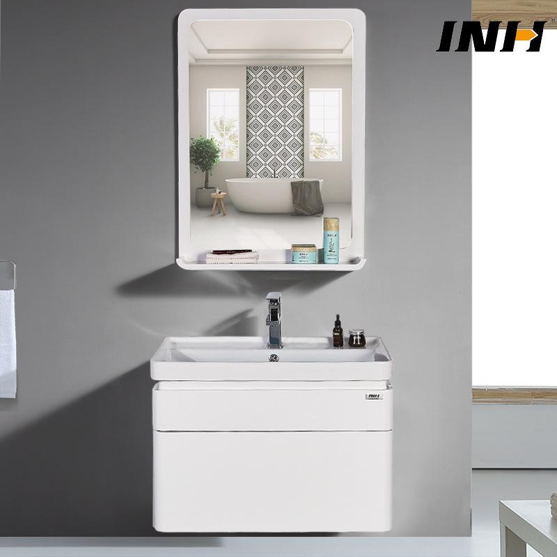 Bộ tủ gương và tủ lavabol phong cách Bắc Âu cho không gian hiện đại đẳng cấp YF1106 size 60cm gương chữ nhật
