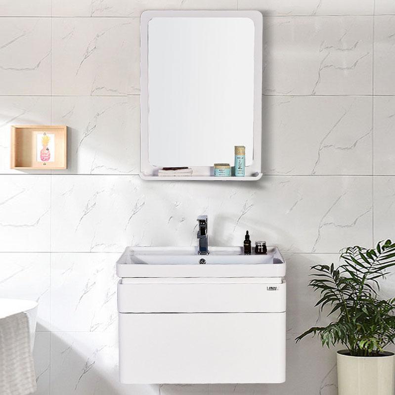 Bộ tủ gương và tủ lavabol phong cách Bắc Âu cho không gian hiện đại đẳng cấp YF1106 size 80cm gương chữ nhật