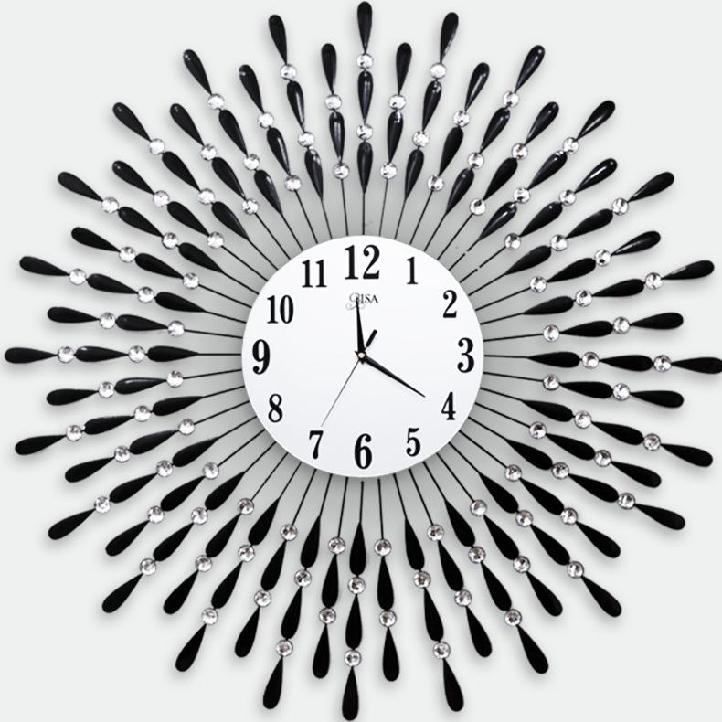 Đồng hồ treo tường hình chiếc lá và giọt sương đường kinh lớn 90cm