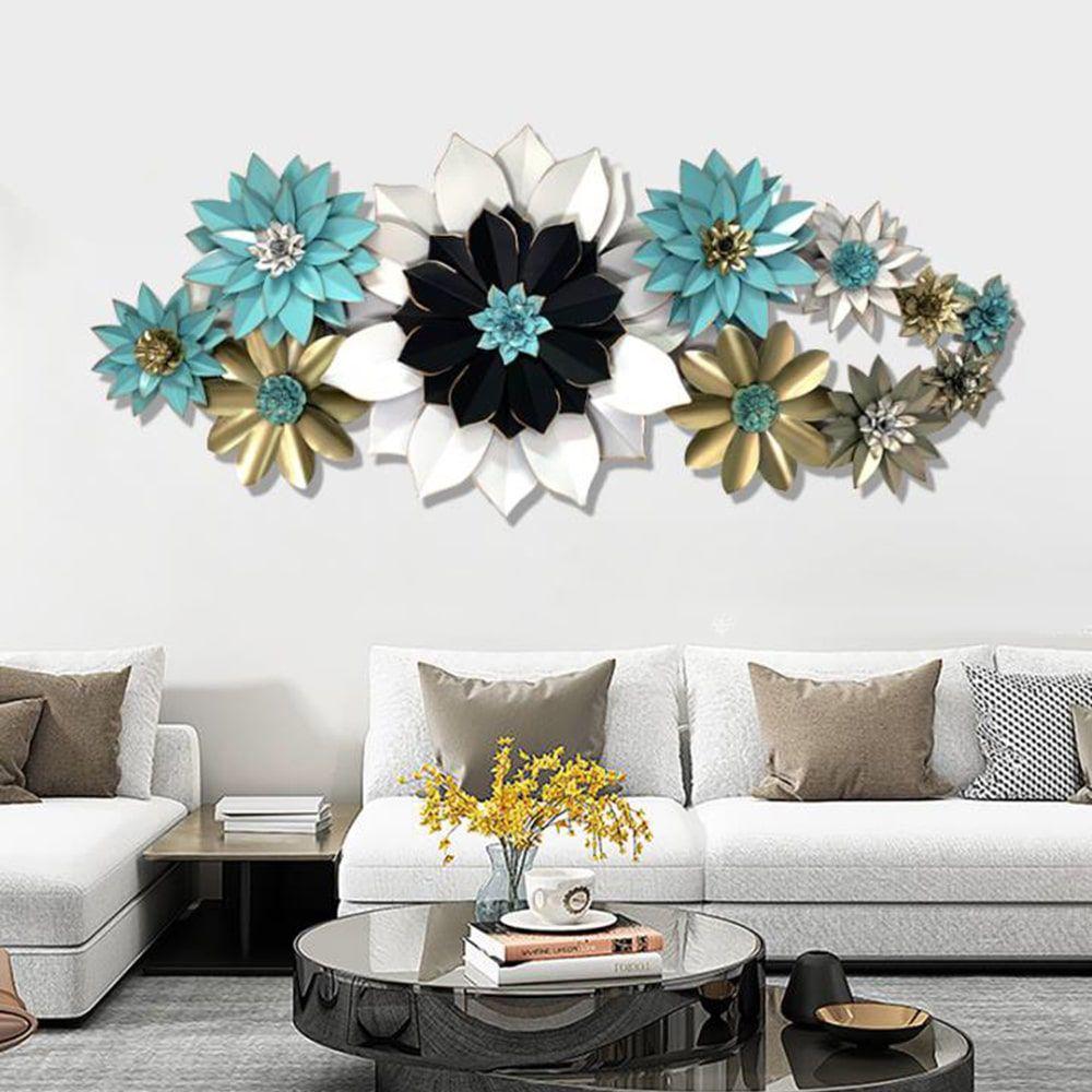 Decor hoa sắt trang trí 3D sắc màu hiện đại 603