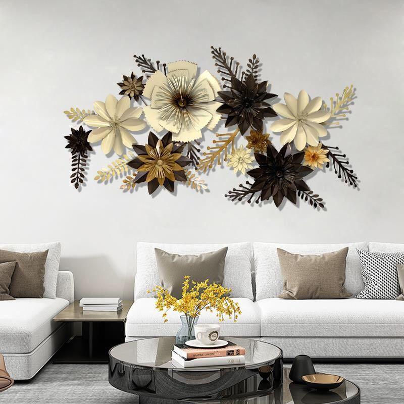 Decor hoa sắt trang trí 3D sắc màu hiện đại 606