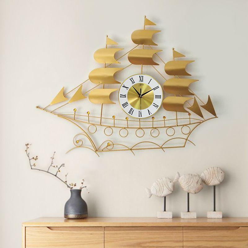 Đồng hồ trang trí hình thuyền thuận buồm xuôi gió vô cùng ấn tượng LM819TV