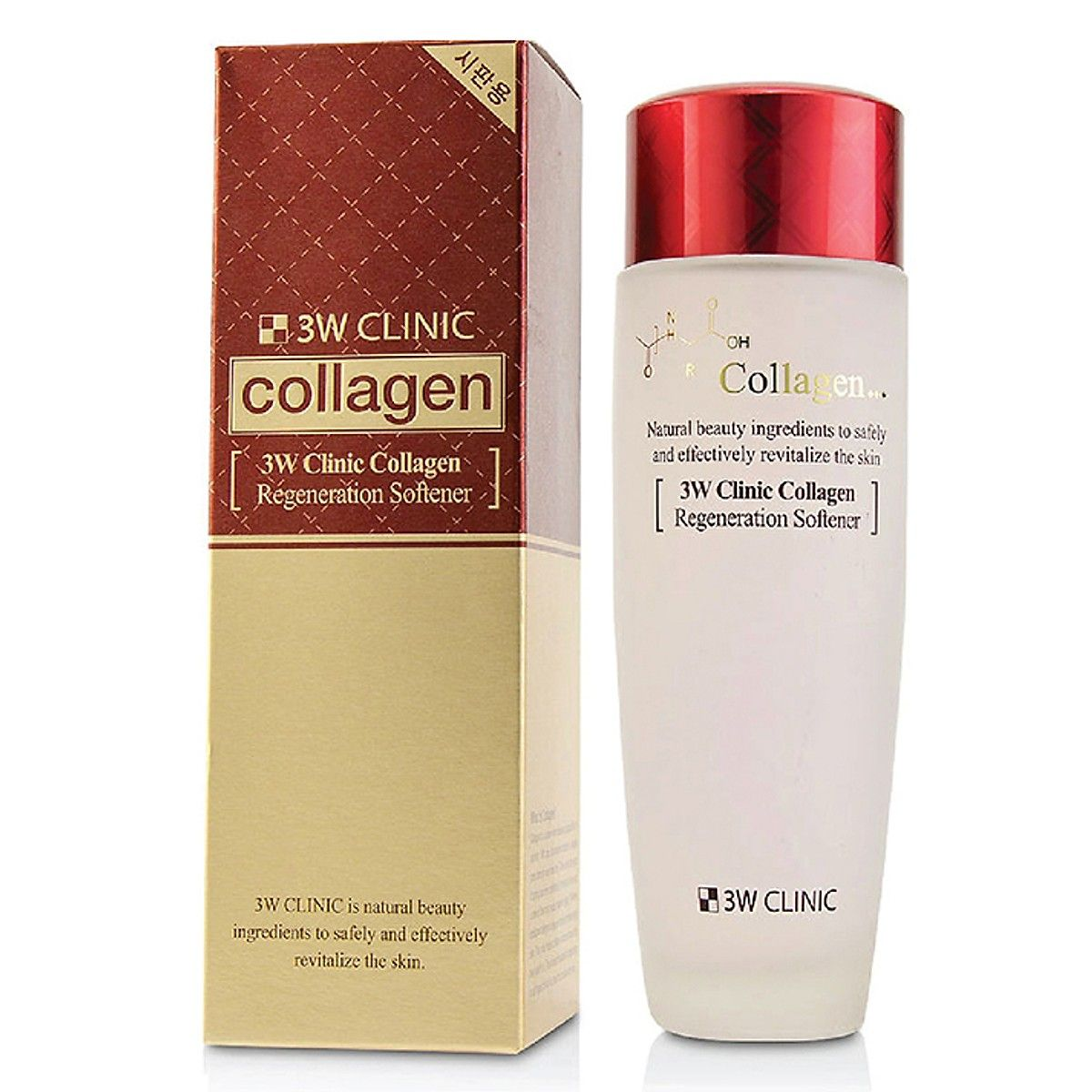Nước Hoa Hồng Dưỡng Trắng Da Chống Lão Hóa Hàn Quốc 3W Clinic Collagen Regeneration Softener 150ml