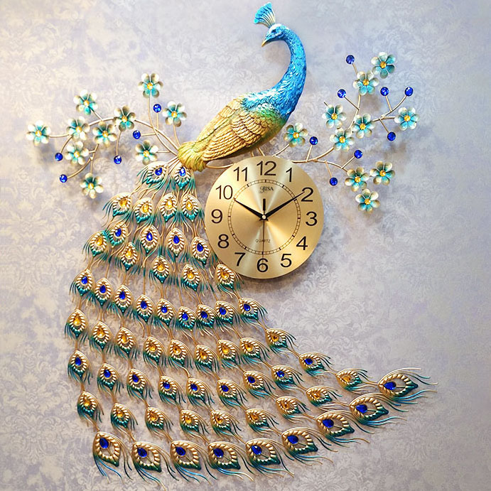 Đồng hồ treo tường thiết kế công đậm chất hoàng gia, thương hiệu bisa độ bền trên 20 năm BS916-100L