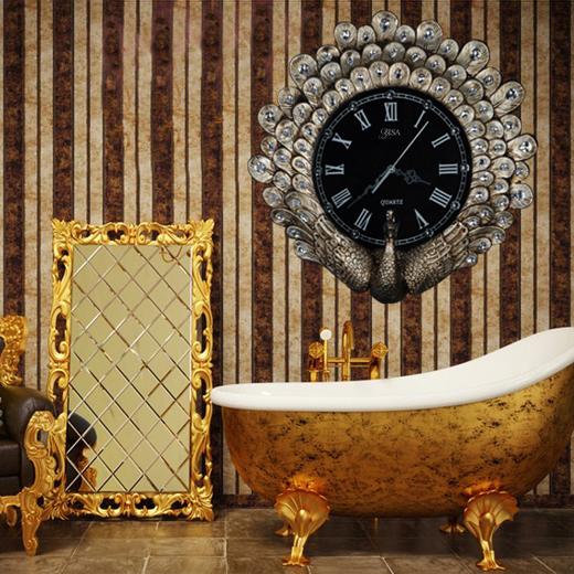 Đồng hồ treo tường phong cách Châu Âu sang trọng có một không hai BS6801_GO